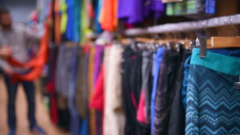 sportswear shop - sports clothing stock videos & royalty-free footage