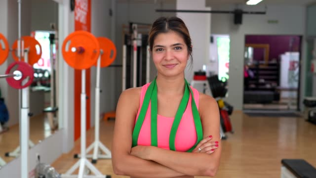 sportswoman in the gym - coach stock videos & royalty-free footage