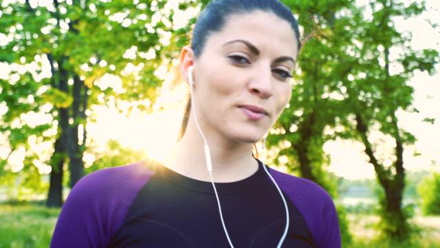 Sporty woman portrait.