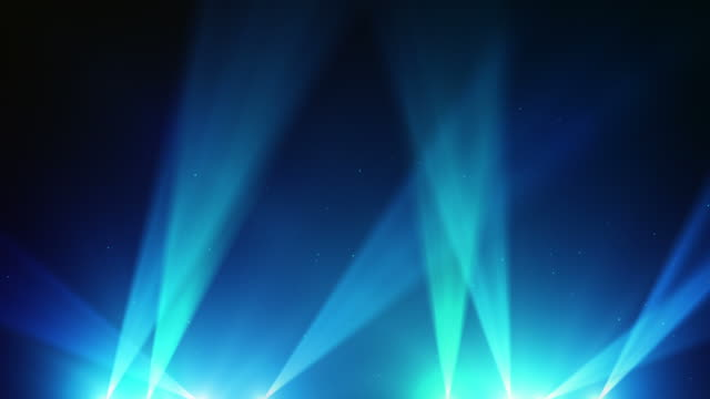 spot lights background loop - blue (full hd) - spotlight stock videos & royalty-free footage