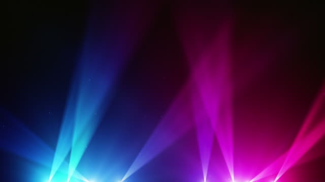 spot lights background loop - blue/pink (full hd) - pink color stock videos & royalty-free footage