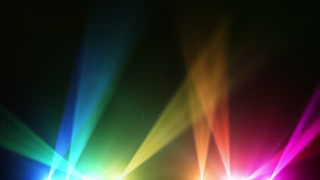 spot lights background loop - rainbow (full hd) - showing stock videos & royalty-free footage