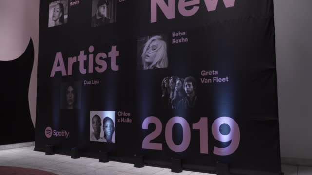 spotify's best new artist 2019 party at hammer museum on february 07, 2019 in los angeles, california. - spotify stock videos & royalty-free footage