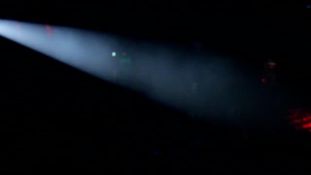 Spotlight animation. Smoke and White.