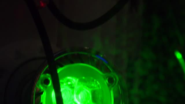 led spotlight light bulbs showing red and green light - spotlight stock videos & royalty-free footage