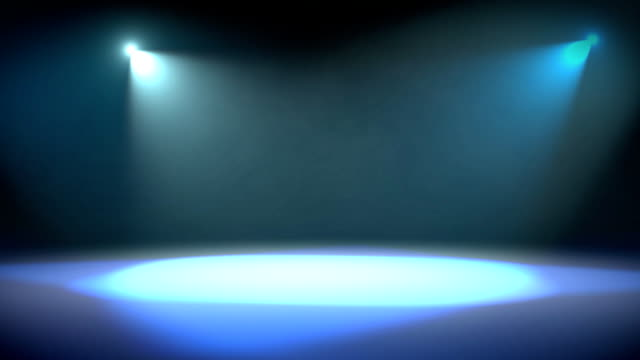 spotlight revolve background loop blue - spotlight stock videos & royalty-free footage