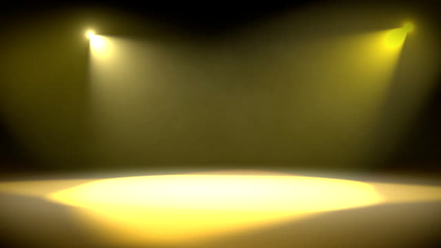 Spotlight Revolve Background Loop Yellow