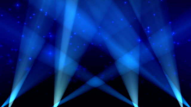 spotlights on sky background loop blue - spotlight stock videos & royalty-free footage