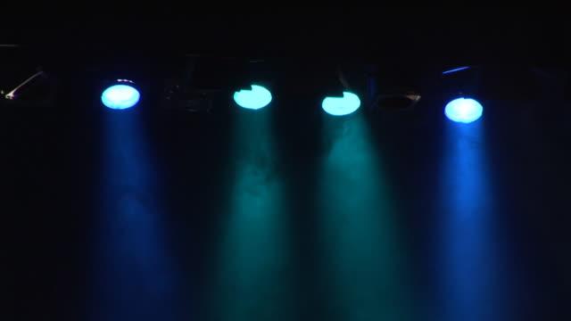 Spotlights on stage - HD & PAL