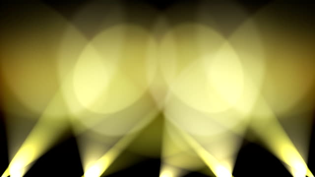 Spotlights on Wall Background Loop Yellow