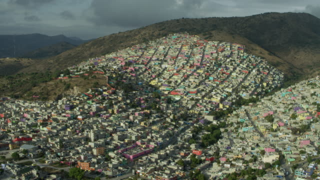 sprawling mexico city suburb ecatepec - population explosion stock videos and b-roll footage