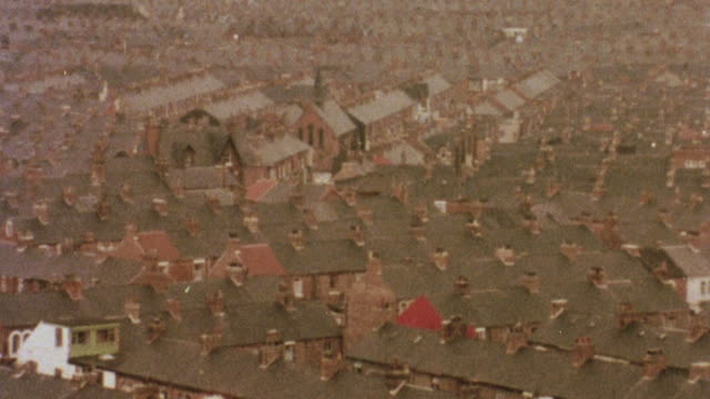 1981 montage sprawling middle class suburbs / middlesbrough, england, united kingdom - cleveland stock videos and b-roll footage
