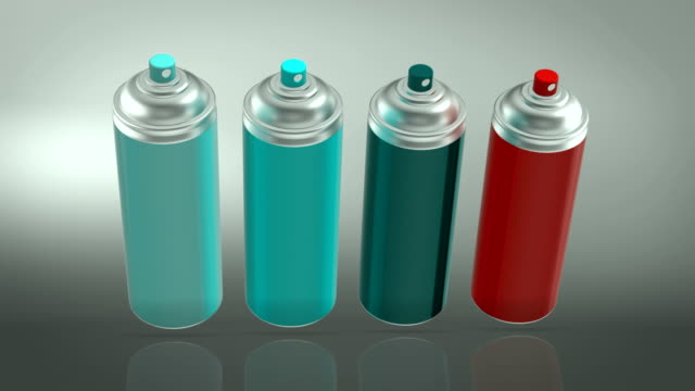 spray paint cans - spraying stock videos & royalty-free footage