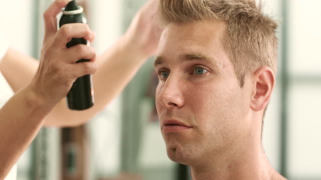 Spraying hair