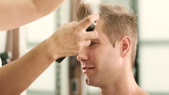 spraying hair - hair spray stock videos & royalty-free footage