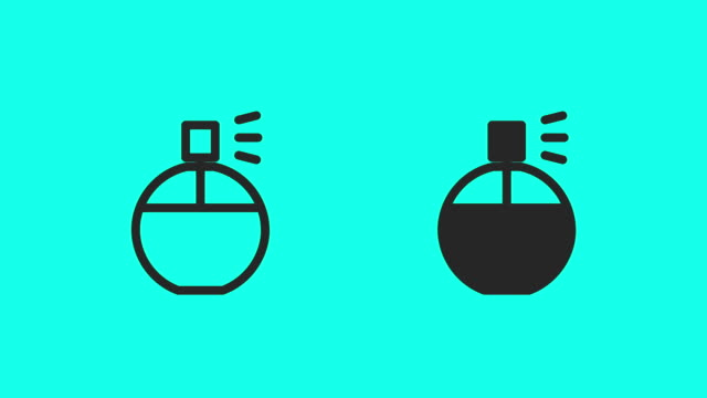 spraying perfume icons - vector animate - soap dispenser stock videos & royalty-free footage