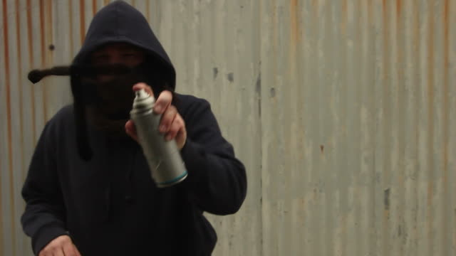 """spraying """"truth"""" in graffiti on glass - graffiti stock videos and b-roll footage"""