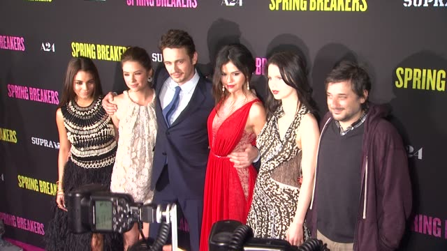 clean spring breakers los angeles premiere hollywood ca united states 3/14/2013 - color block stock videos and b-roll footage