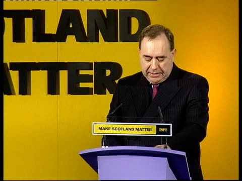 spring conference; scotland: dundee: int alex salmond msp speech at snp spring conference sot - the snp will introduce first time buyers grant, 2000... - スコットランド ダンディー点の映像素材/bロール