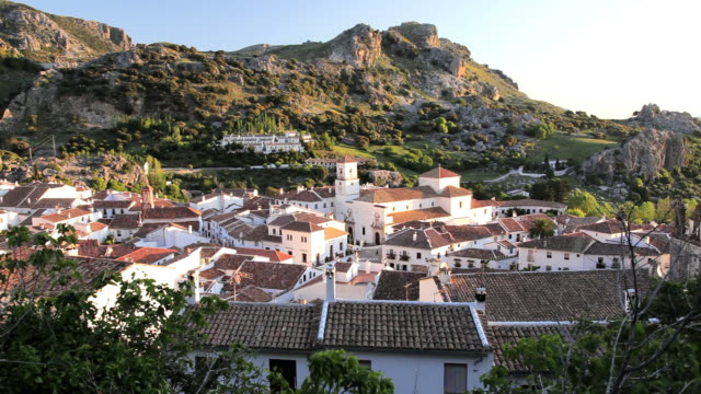 Spring in the beautiful Andalucia countryside and the town of Grazalema, Spain, Europe