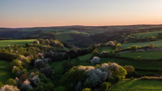 AERIAL: Spring Landscape