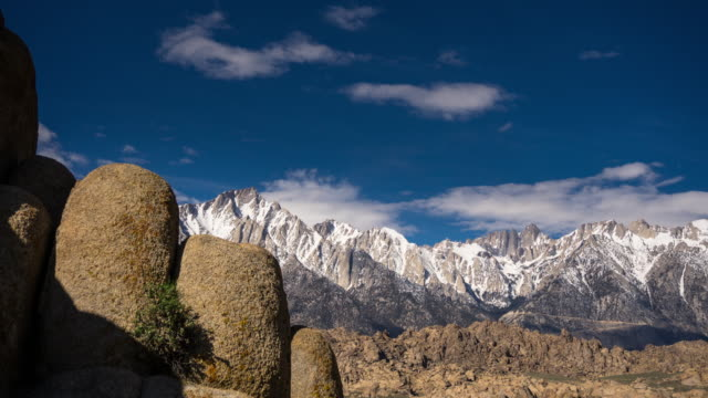 spring morning in the california sierra nevada from the alabama hills - time lapse - pacific crest trail stock videos & royalty-free footage