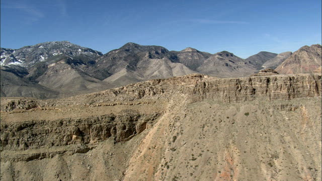 spring mountains  - aerial view - nevada,  clark county,  united states - clark county nevada stock videos & royalty-free footage