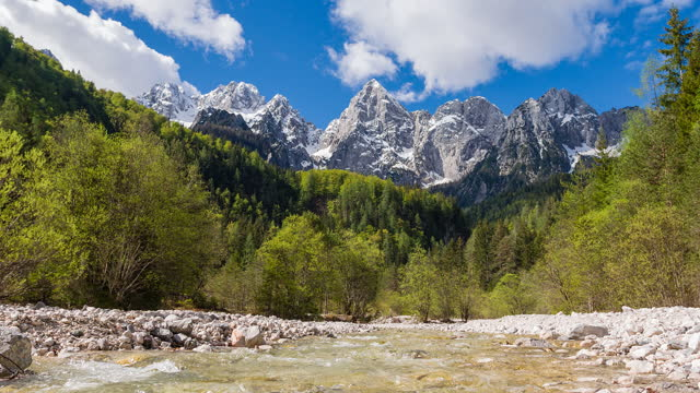 spring river stream in a mountain valley - flowing water stock videos & royalty-free footage