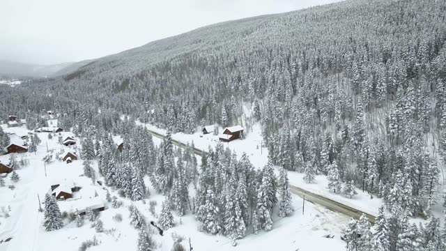 spring snowstorm blanketed breckenridge, colorado, on sunday, april 17. the national weather service warned of wet and icy... - wet wet wet stock videos & royalty-free footage