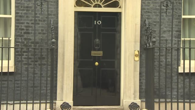 cabinet arrivals and departures england london downing street ext greg clark mp / chris grayling mp / caroline nokes mp / sajid javid mp / david... - damian hinds stock videos and b-roll footage