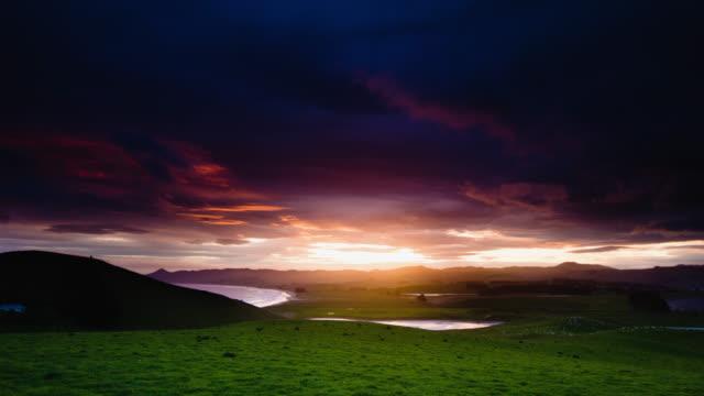 TIME LAPSE; Spring Sunset