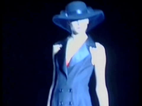 spring/summer 2011 collection andres sarda: cibeles madrid fashion week on september 20, 2010 in madrid, spain - fashion collection stock videos & royalty-free footage