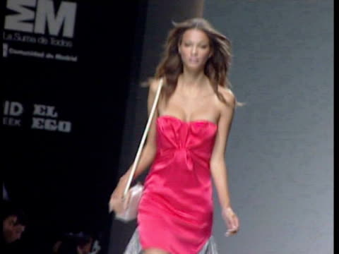 spring/summer collection 2011 beba's closet: cibeles madrid fashion week on september 20, 2010 in madrid, spain - fashion collection stock videos & royalty-free footage