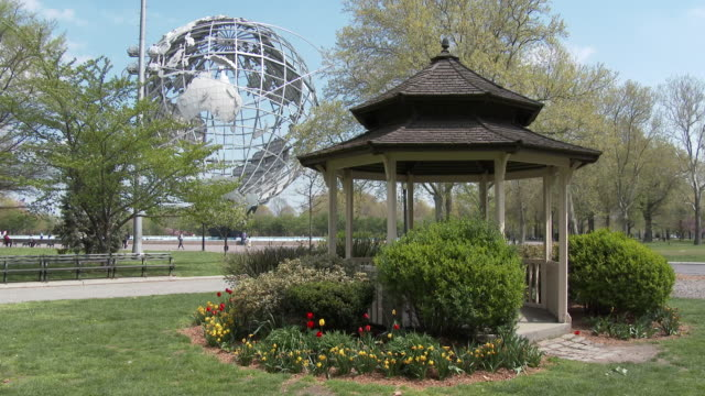 Springtime Blooms, Tulips, Flushing Meadows Park Unisphere - NYC