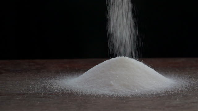 Sprinkle Salt Slow Motion