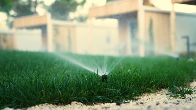 sprinklers - sprinkler stock videos & royalty-free footage