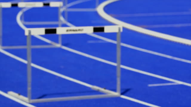 hd sprint hurdle race for men - struggle stock videos & royalty-free footage