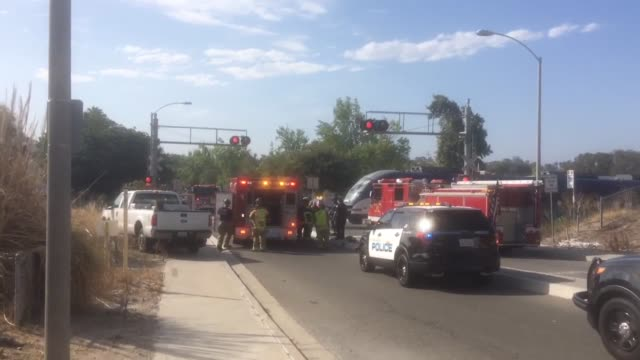 sprinter train collision on temple heights in oceanside ca man parked on tracks in suicide attempt - oceanside stock videos and b-roll footage
