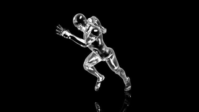 vidéos et rushes de 3 d sprinter - en individuel