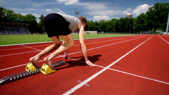 スローモーション: 短距離走 - 短距離走点の映像素材/bロール