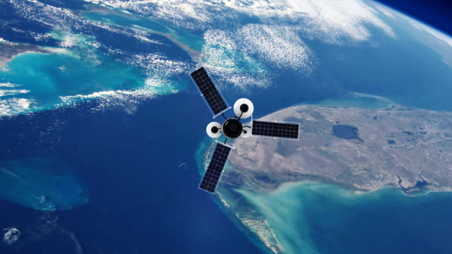 spionagesatellit umkreist die erde. nasa public domain imagery - astronomie stock-videos und b-roll-filmmaterial