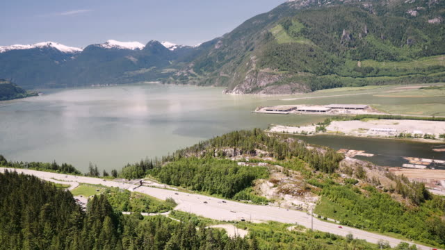 squamish and howe sound from high on the stawamus chief - squamish stock videos & royalty-free footage