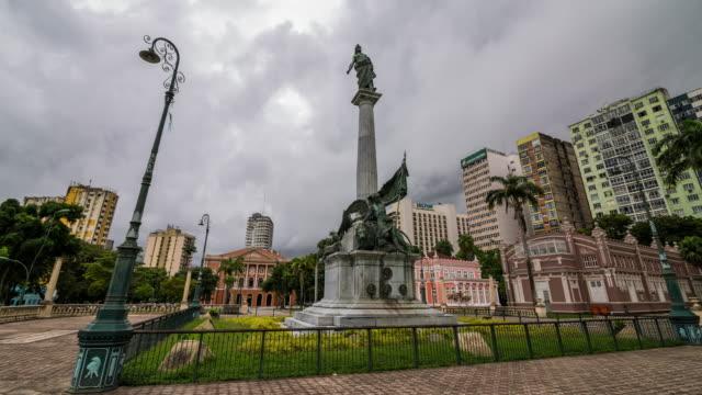 tl - square, belem,  brazil - belém brazil stock videos and b-roll footage