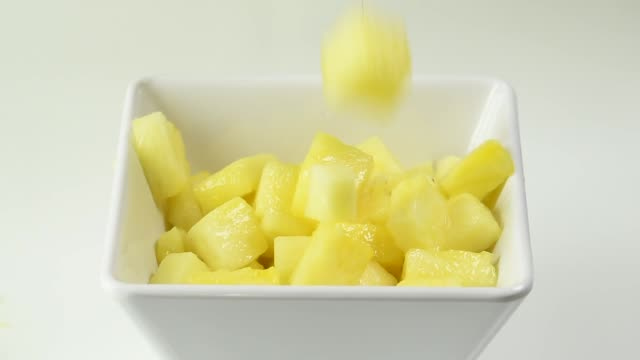 square bowl with ananas - frozen yogurt stock videos and b-roll footage