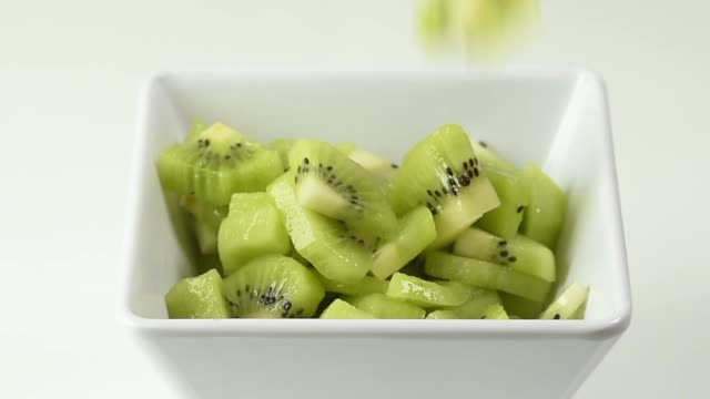 square bowl with kiwi - frozen yogurt stock videos and b-roll footage