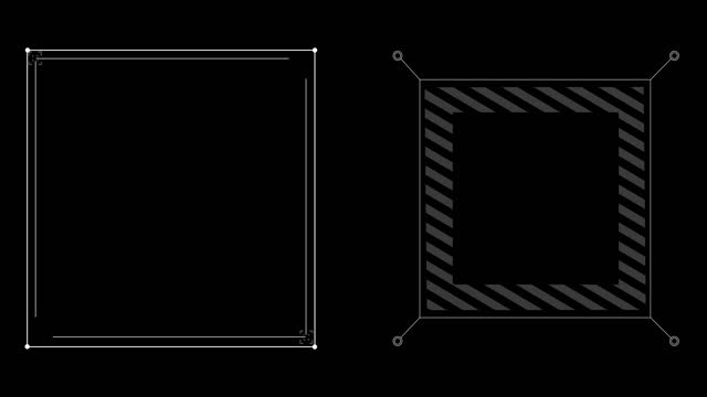hud square frames a - design element stock videos & royalty-free footage