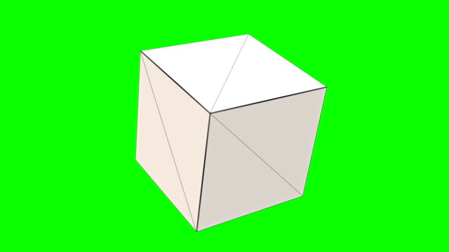 3d square geometric shape, chroma key - single object stock videos & royalty-free footage