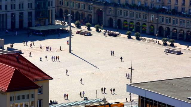 square in dresden - städtischer platz stock-videos und b-roll-filmmaterial