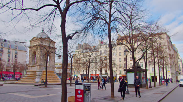 square in paris with historical landmark. - civilian stock videos & royalty-free footage
