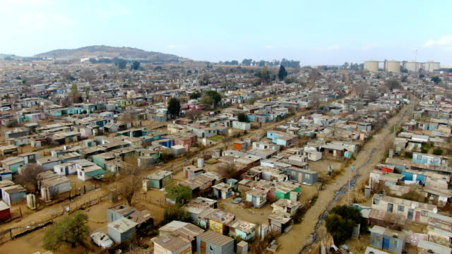 squatter camps in south africa near soweto township,  johannesburg city / aerial view - south africa stock videos & royalty-free footage